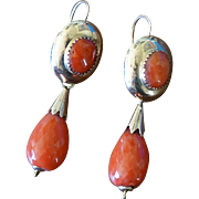 Antique Coral Day And Night Earrings