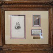 Historic Framed Image of President Abraham Lincoln's Secretary of  The Navy, Gideon Welles 186
