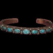 Ingot Bracelet Landers Nevada Turquoise 1940's