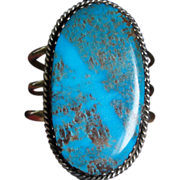 High Grade Kingman Turquoise Bracelet And Ring Set