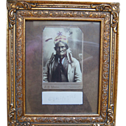 Original Signatures And Cabinet Cards Of Sitting Bull with William F. Cody And Geronimo  1880'