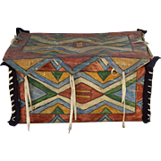 SOLD Lakota Sioux Buffalo Hide Parfleche Storage Box