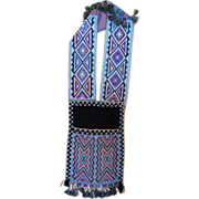 19th Century Potawatomi Indian Beaded Bandolier Bag