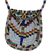 Lakota Sioux Fully Beaded Woman's Handbag 1890's