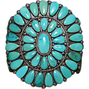 SALE Doris & Warren Ondelacy Zuni Cluster Cuff Bracelet
