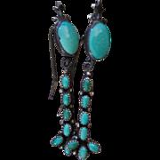 Vintage Native American Turquoise Earrings