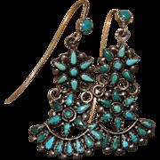 Vintage Zuni Turquoise Star Earrings