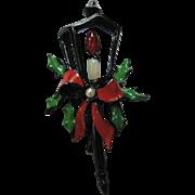 1950's Christmas Lantern Pin ~ Book Piece