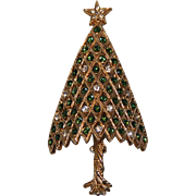 SALE Corocraft Twisted Trunk Green/Clear 3D Convex Christmas Tree Pin ~ Book Piece