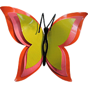 SALE RARE Corocraft Butterfly 1960's 3D Neon Pin