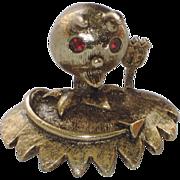 SALE Tortolani Devil Shoulder Pin ~ Book Piece