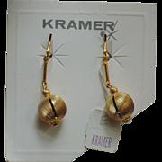 Kramer of New York Gold Drop Earrings