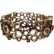 SALE RARE Boucher 1955 Mid Century Modernist Circle Clamper Bracelet