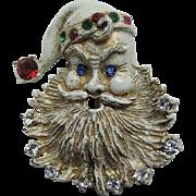 REDUCED 1930's Santa Claus Face Brooch