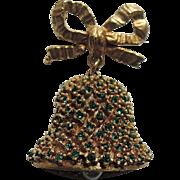 DeNicola Christmas Bell 3D Brooch