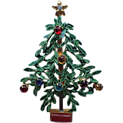 REDUCED RARE Sandor signed Christmas tree Pin ~ Book Piece