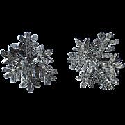 RARE Castlecliff 1950's 3D Snowflake Earrings ~ Pristine