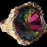 REDUCED RARE Napier 1965 Watermelon Hope Diamond Cocktail Ring, Book Piece