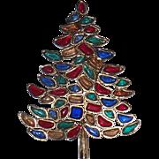 SOLD SCARCE Marvella 1966 Vintage Christmas Tree Pin, Book Piece