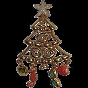 TC Signed Beach Theme Christmas Tree Pin, Book Piece