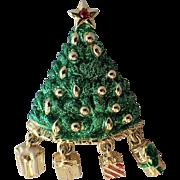 Danecraft Dangling Presents Christmas Tree Pin