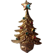 SALE RARE Tancer II Eyelash Santa Face Christmas Tree Hat Pin, Book Piece