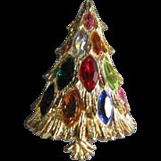 SALE Corocraft Light Up Marquis Stone 3D Christmas Tree Pin ~ Book Piece