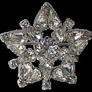 RARE Christian Dior by Kramer of NY Star Snowflake Brooch