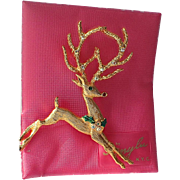 SALE SCARCE Mylu 1960's Rudolph Reindeer Brooch, Mint on Card