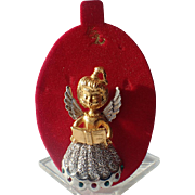 Tancer II Christmas Angel Pin, Mint on Original Card