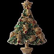 SALE SCARCE Avante Signed Pine Cone Christmas Tree Pin, Book Piece