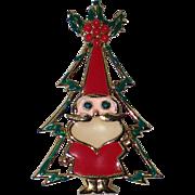 SALE PENDING Beatrix Santa Claus Christmas Tree Pin, Book Piece
