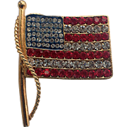 SALE Kenneth Jay Lane KJL American US Flag Pin/Pendant