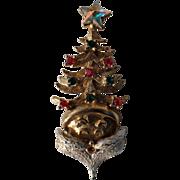 SALE PENDING RARE Tancer II Santa Claus Head Christmas Tree Pin, Book Piece
