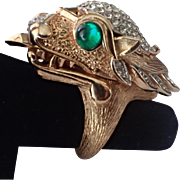 SALE Trifari 1969 Something Wild Dragon Watch Ring, VERY RARE