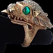 SALE Trifari 1969 Something Wild Dragon Watch Ring, VERY RARE