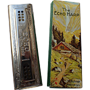 SALE Hohner 56 96 Echo Harp Tremolo Harmonica (Key of C,G)