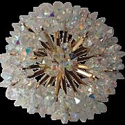 Coro 1956 Rivoli Crystal Atomic Space Age Brooch