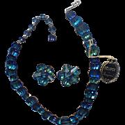 RARE Laguna 1963 Crown Jewel Eclipse Bermuda Blue Pagoda Crystal Set