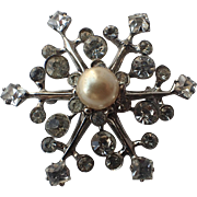 SALE SCARCE Castlecliff 1945 Snowflake Sterling Brooch, Magazine Ad Piece