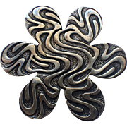 SALE Coro 1960's Modernist Flower Brooch