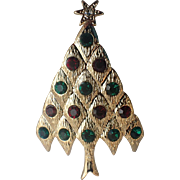 SALE Lianna, Inc. (LIA) Quilted Diamond Christmas Tree Pin, Book Piece