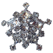 Kramer of New York Snowflake Rhinestones Brooch