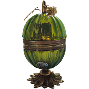 Art Deco Murano Venetian Italian Green Glass Lighter, RARE Fratelli Toso