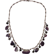 Martha's Vineyard Wampum Shell Sterling Vermeil Necklace