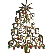 Jesus is the Reason for the Season Christmas Tree Pin