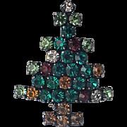 SALE Austria Rhinestone Crystal Christmas Tree Pin, Book Piece