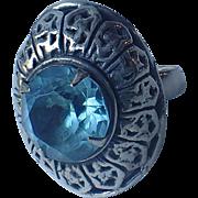Napier Sterling 1940's Cocktail Ring, Adjustable