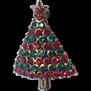 RARE Hollycraft Petite Christmas Tree Pin, Book Piece