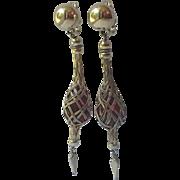 Napier 1950's Lace Entwined Wine Bottles Charm Bracelet, Book Piece